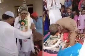 پاکستان میں عجب شادی ، نوجوان نے ہندو رسم و رواج سے بکری کے ساتھ لئے سات پھیرے