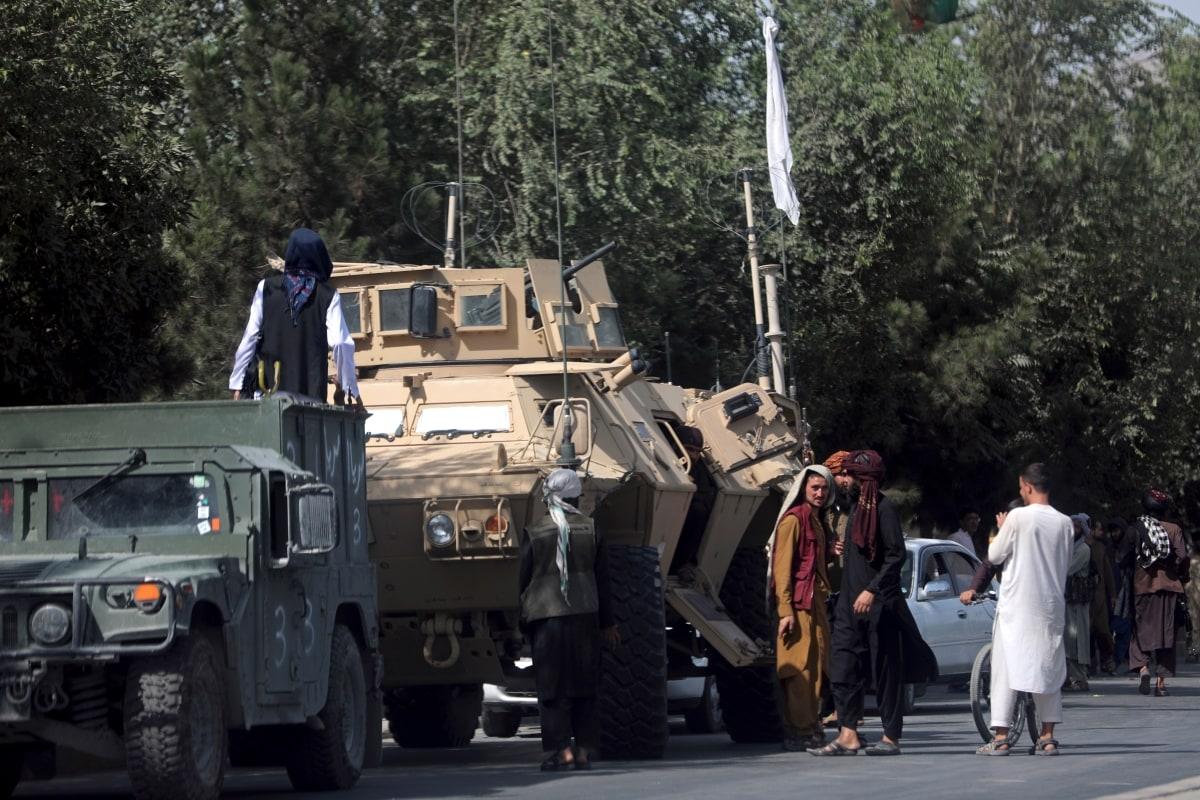 افغانستان میں طالبان کا قبضہ ۔(تصویر:اےپی)۔
