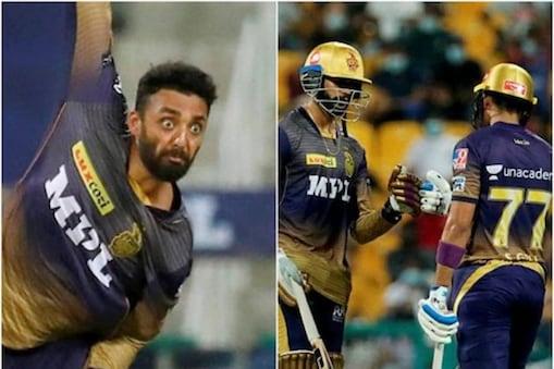 IPL 2021 : چکرورتی اور رسل کی خطرناک گیند بازی ، کولکاتہ نے بنگلورو کو نو وکٹوں سے دی مات ۔ (PTI)