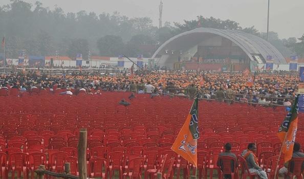 Modi adressing BJP workers