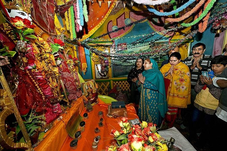 Kashmiri Pandits celebrating Ram Navami in Srinagar