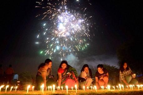 வட இந்தியாவில் உற்சாகமாக கொண்டாடப்பட்ட தீபாவளி: வண்ண விளக்குகளால் ஜொலித்த அமிர்தசரஸ்