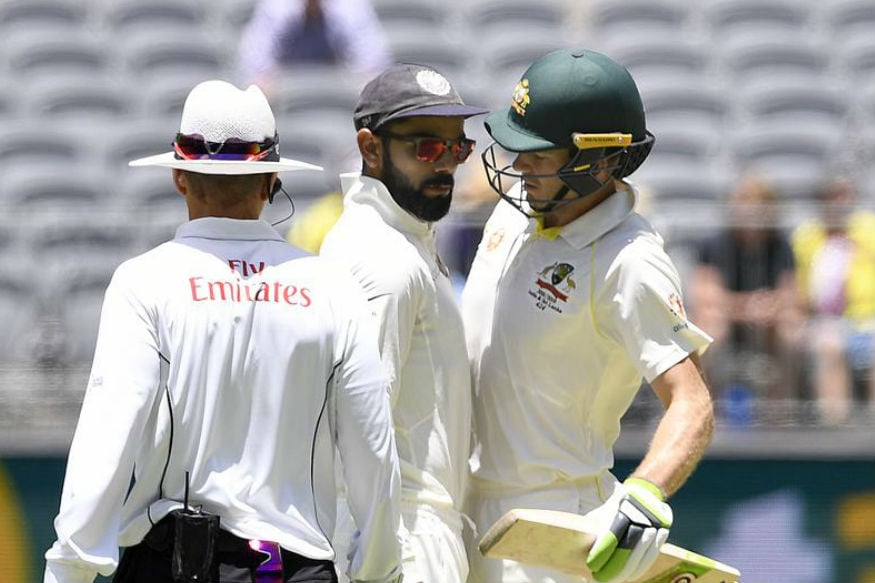 Kohli Tim Paine Clash