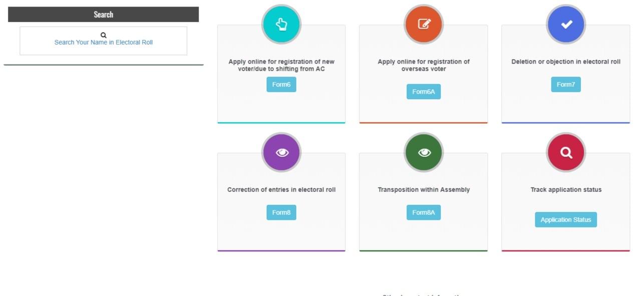 வாக்காளர் பட்டியலில் உங்க பெயர் உள்ளதா என்று சரிபார்க்க www.nvsp.in என்ற தேசிய வாக்காளர் சேவைப் பிரிவு இணையதளத்திற்குச் செல்ல வேண்டும். (Image: National Voters' Service portal)