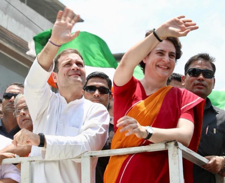 ராகுல் காந்தி-பிரியங்கா காந்தி (Image: UPCC)