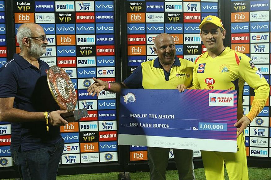 Dhoni man of the match awards, CSK, IPL