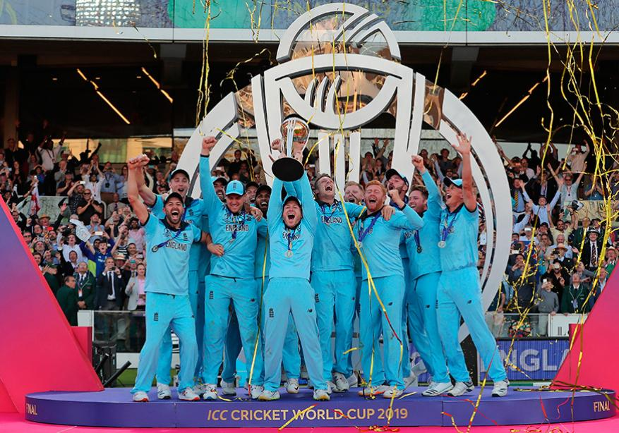 உலகக் கோப்பை 2019: இங்கிலாந்து அணியின் வெற்றி கொண்டாட்டம் (Image: AP)