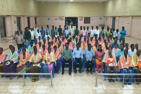 காஞ்சி அத்திவரதர்: மக்களின் பாராட்டுகளுடன் விடைபெற்ற துப்புரவுத் தொழிலாளர்கள்!