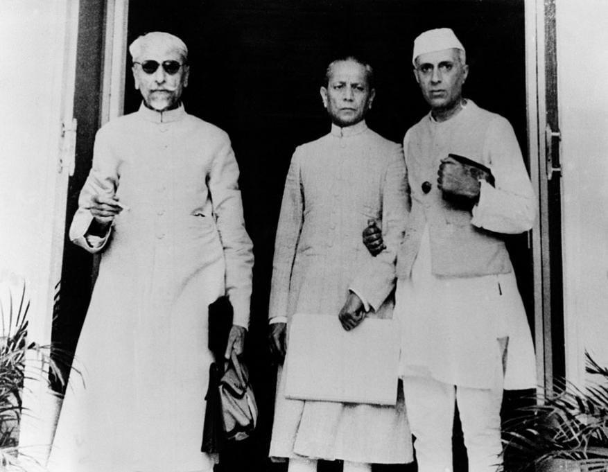 அபுல் கலாம் ஆசாத், அசாஃப் அலி மற்றும் ஜவஹர்லால் நேரு.