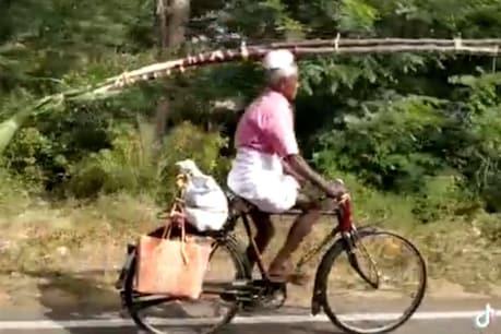 அடேங்கப்பா... பெரிய வித்தக்காரரா இருப்பார் போலருக்கு ! - வைரல் வீடியோ