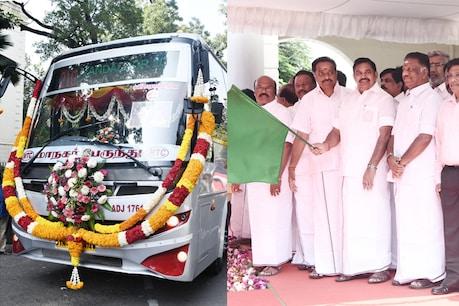 240 புதிய பேருந்துகள், 2 நடமாடும் பணிமனைகளை தொடங்கி வைத்த முதல்வர் பழனிசாமி