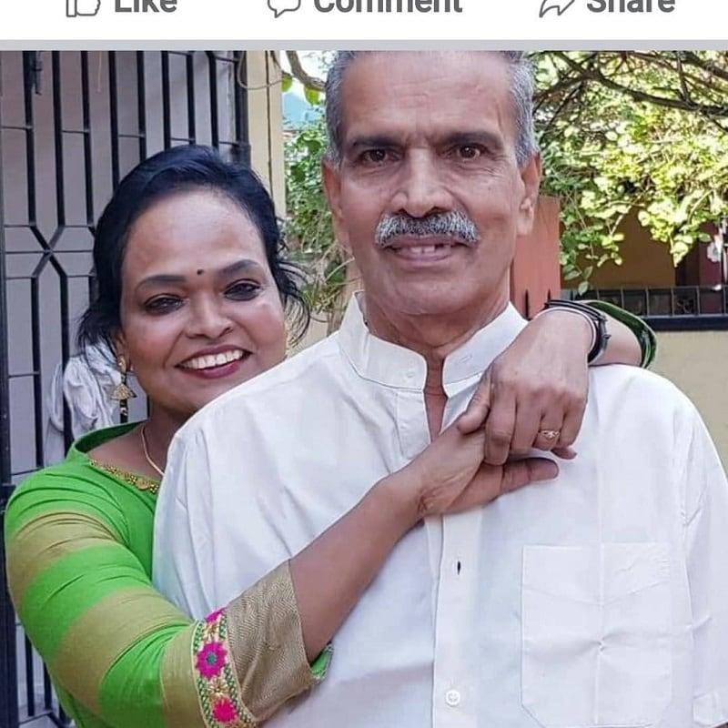 நடன இயக்குநர் கலா மாஸ்டர் தன் அப்பாவுடன்... (source : Instagram )