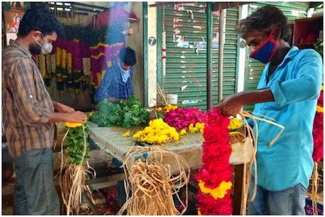 கொரோனா ஊரடங்கு: வாடிப்போன பூ வியாபாரிகளின் இயல்பு வாழ்க்கை