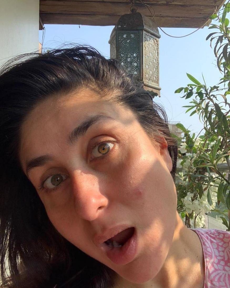 மேக்கப் இல்லாமல் நடிகை கரீனா கபூர் (படம்: இன்ஸ்டாகிராம்)