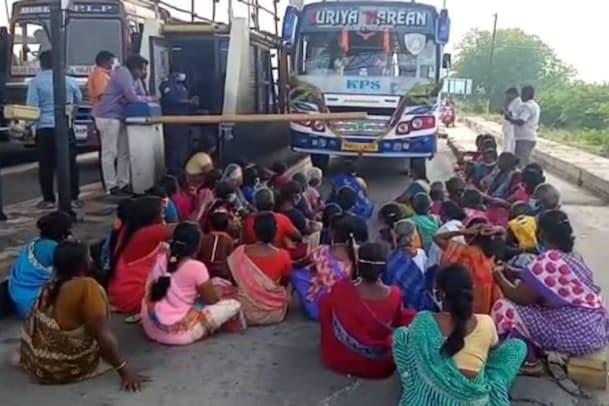 ஆளுங்கட்சியினரிடம் சுங்கக் கட்டணமா? வெகுண்டெழுந்த பாஜக மகளிர் அணி..