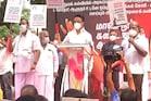 மருத்துவ கல்வியில் 7.5% இட ஒதுக்கீடு: திமுக கண்டன ஆர்ப்பாட்டம்