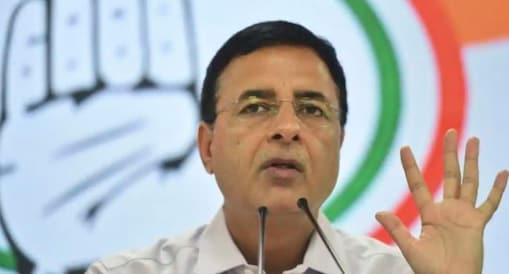 காங். தலைவர் ரந்தீப் சுர்ஜேவாலா.