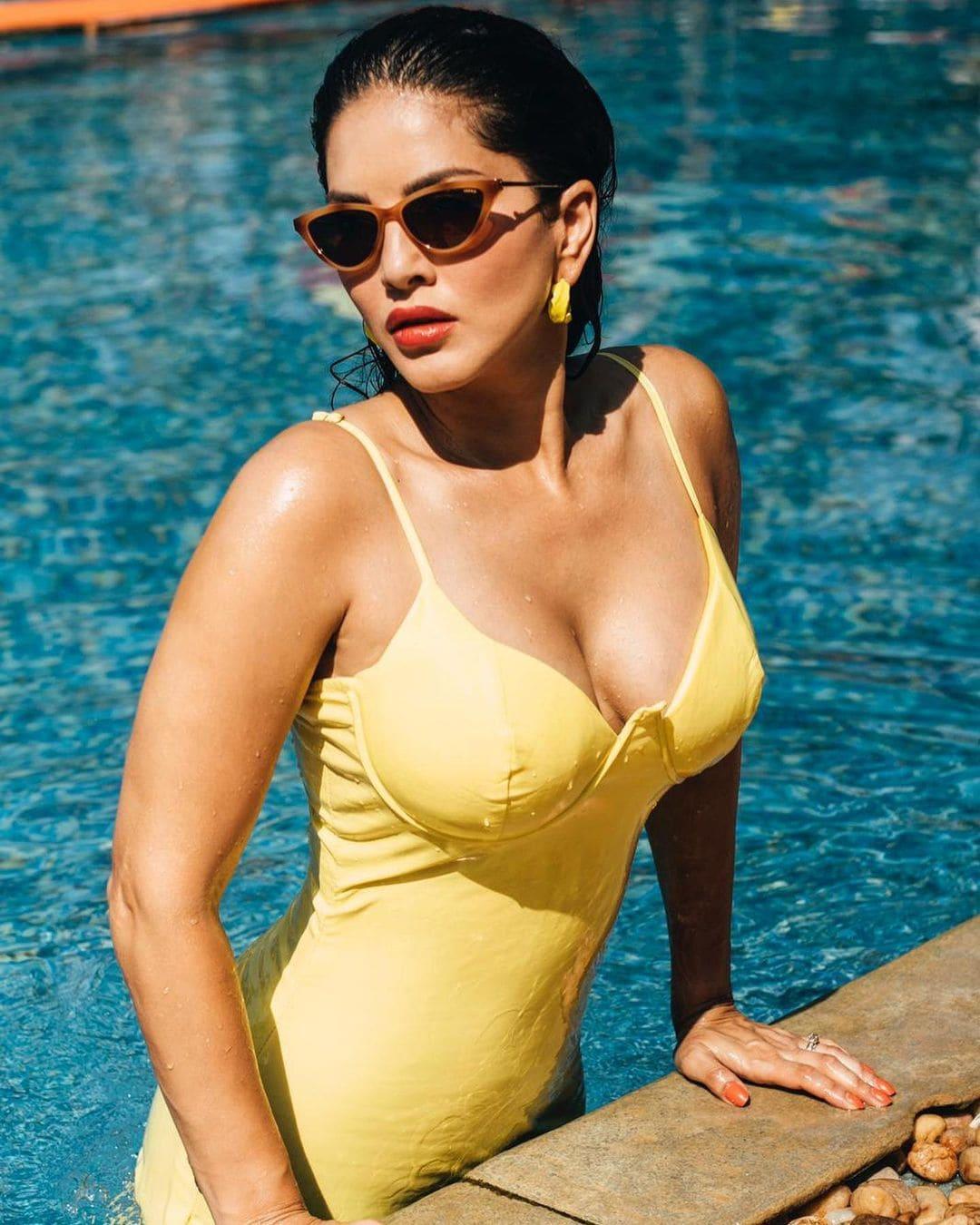 """நடிகை சன்னி லியோன் """"Splitsvilla """" என்ற ரியாலிட்டி டிவி ஷோவிற்காக கேரளாவில் தங்கியுள்ளார்."""