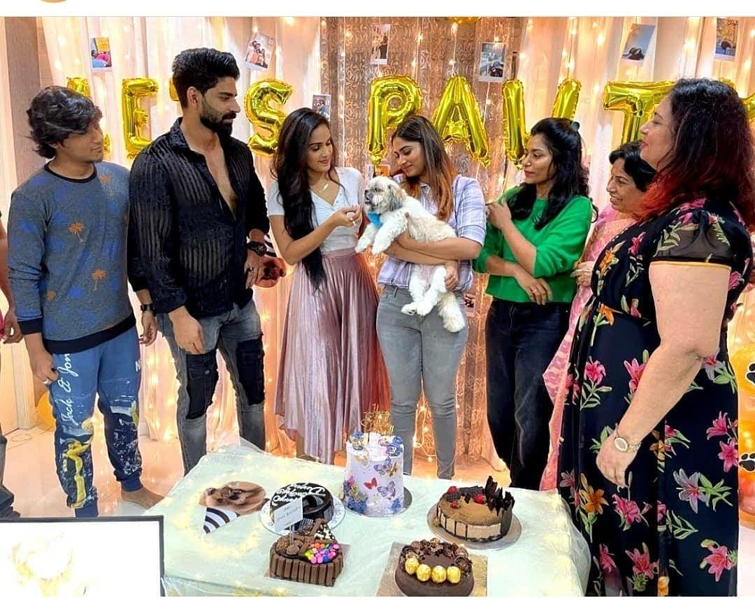shivani narayanan celebrates her pet's 1st birthday