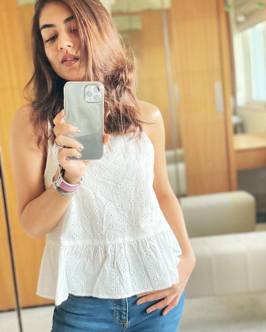 நடிகை நஸ்ரியா நசீம் ( Image :Instagram @nazriyafahadh)