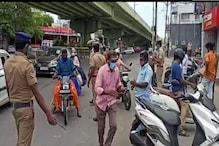 ஊரடங்கை மதிக்காமல் சாலையில் சுற்றுபவர்களுக்கு அபராதத்துடன் கொரோனா டெஸ்ட் - திருப்பூர் காவல்துறை ஏற்பாடு