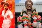 பனையூரில் நடிகர் விஜய்-க்கு சிலை வைத்த ரசிகர்கள் - படங்கள்