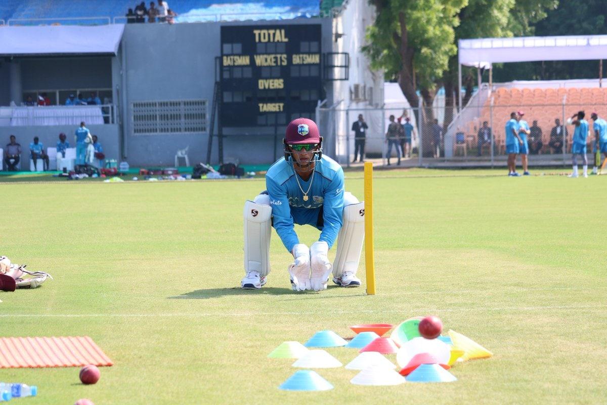 ప్రాక్టీస్ సెషన్స్లో వెస్టిండీస్ క్రికెటర్లు ( Windies Cricket / Twitter )