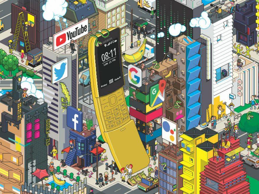 బనానా ఫోన్(నోకియా 8110) రిలీజ్ చేసిన నోకియా!, Nokia 8110 4G Banana Phone With KaiOS Launched For Rs 5,999