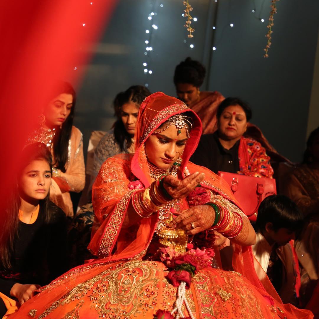 భారత రెజ్లర్లు వినేష్ ఫోగట్, సోమ్వీర్ రథీల పెళ్లి వేడుక ( Vinesh Phogat / twitter )