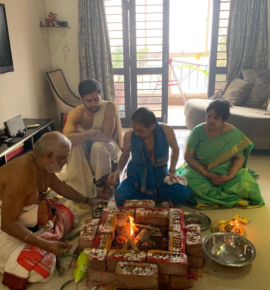 పెళ్లికి ముందు ఒడుకు కార్యక్రమంలో పారుపల్లి కశ్యప్. ( Parupalli kashyap / Instagram )