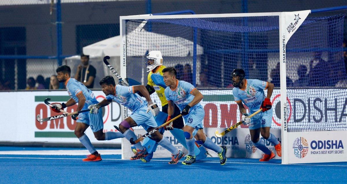 2018 హాకీ వరల్డ్కప్ క్వార్టర్ఫైనల్లో భారత జట్టుకు నెదర్లాండ్స్ షాకిచ్చింది. ( Hockey India / Twitter )
