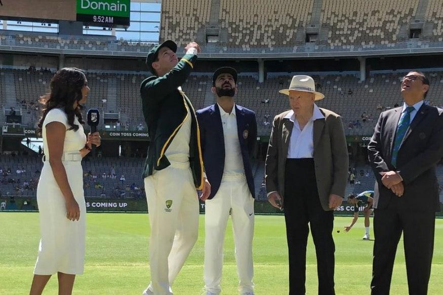పెర్త్ స్టేడియం వేదికగా జరుగుతున్న రెండో టెస్ట్లో టాస్ నెగ్గిన ఆస్ట్రేలియా కెప్టెన్ బ్యాటింగ్ ఎంచుకున్నాడు. ( Cricket Australia / twitter )