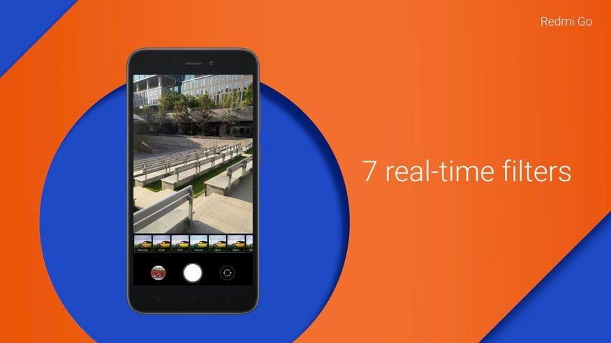 7. రెడ్మీ గో రియర్ కెమెరా 8 మెగాపిక్సెల్ కాగా ఫ్రంట్ కెమెరా 5 మెగాపిక్సెల్. కెమెరా, వీడియో కాలింగ్ చక్కగా పనిచేస్తాయని చెబుతోంది షావోమీ. (image: @XiaomiIndia/twitter)