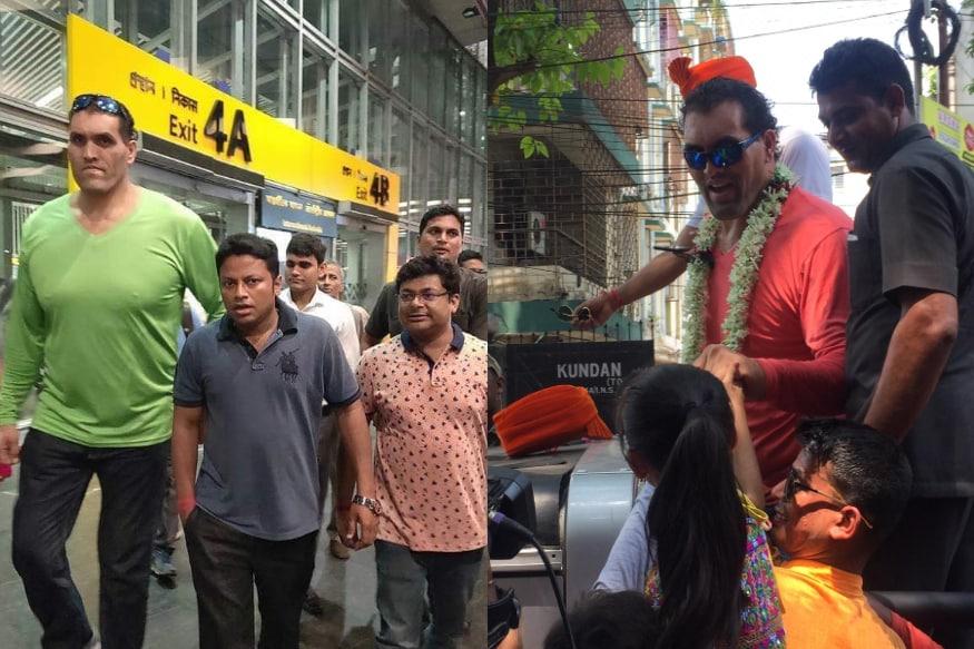 కోల్కతా ఎయిర్పోర్టు, ఎన్నికల ప్రచారంలో ది గ్రేట్ ఖలీ