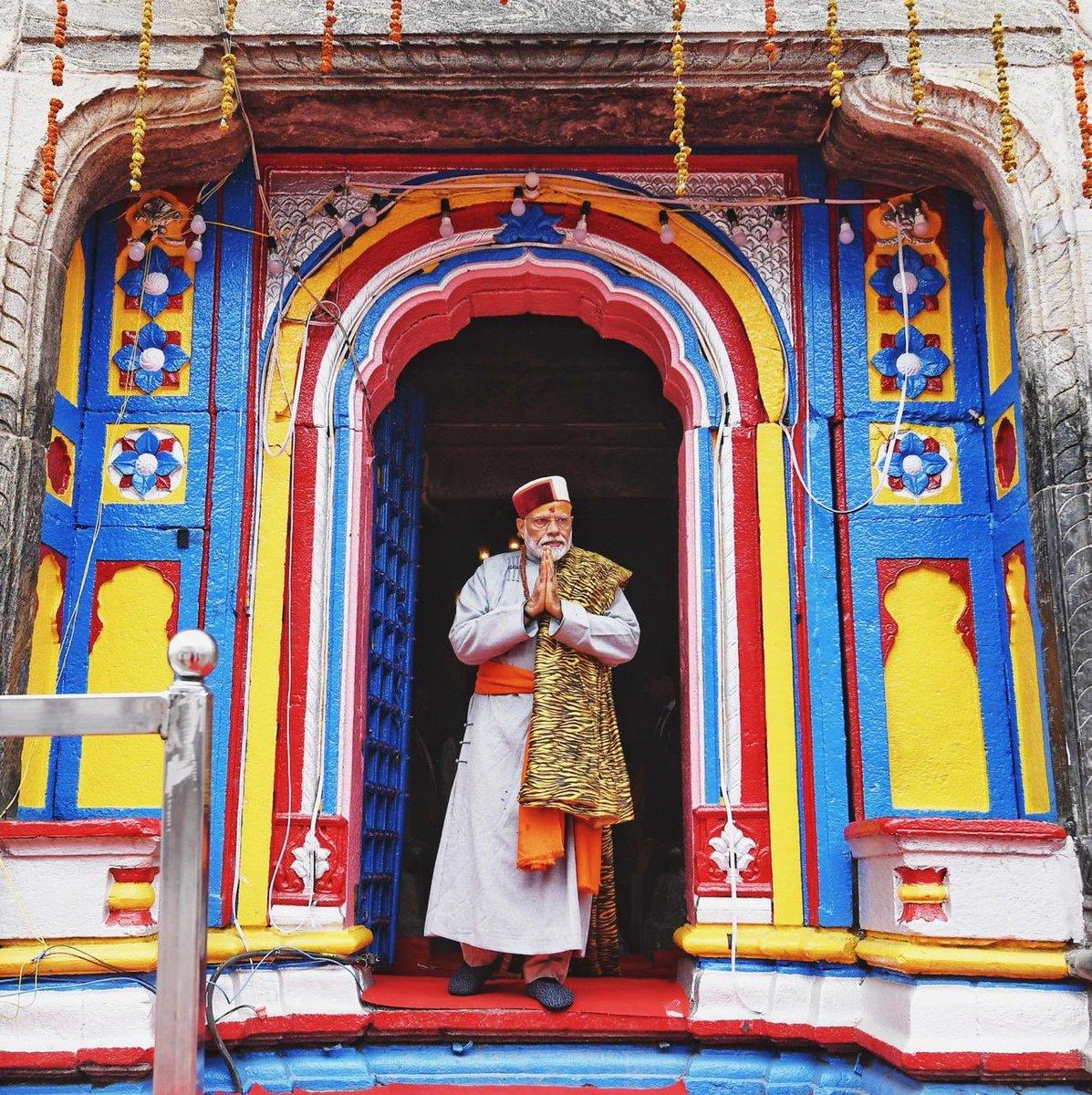 కేదార్ నాథ్లో ప్రధాని నరేంద్ర మోదీ (Image:Modi/ twitter)