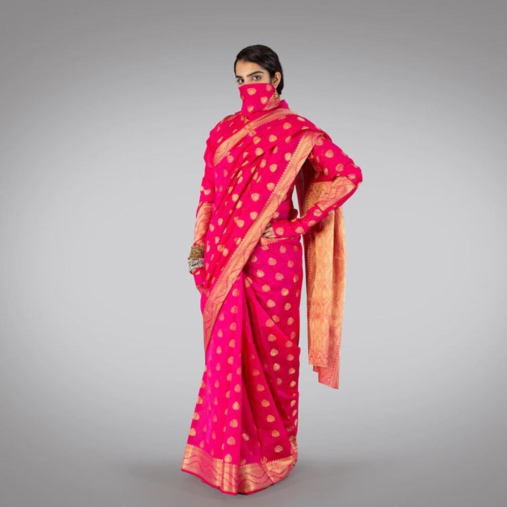 సంస్కారీ ఐటమ్ నెంబర్ శారీ (Photo Credits: www.sanskari-saree.com)
