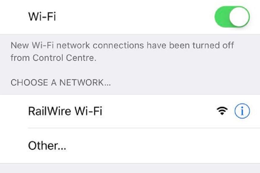5. మీరు కవరేజీ ఏరియాలో ఉంటే RailWire Wi-Fi SSID కనిపిస్తుంది. మీరు RailWire వైఫై పైన క్లిక్ చేస్తే నోటిఫికేషన్ వస్తుంది. (image: @RailTel/twitter)