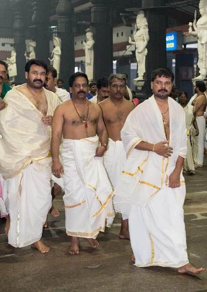 మోహన్ లాల్ రాకతో ఆలయం వద్ద సందడి నెలకొంది. సినీ స్టార్ను చూసేందుకు ఆయన అభిమానులు, భక్తులు పోటీపడ్డారు.
