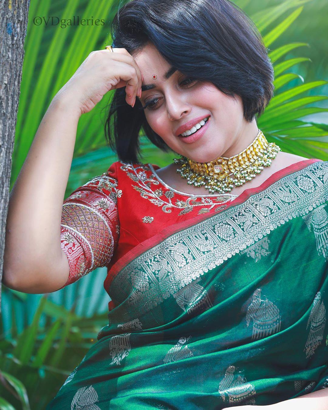 చీరలో అదరగొట్టిన పూర్ణ.. అదిరిపోయిన లేటెస్ట్ ఫోటో షూట్, Photo: Instagram.com/shamnakasim