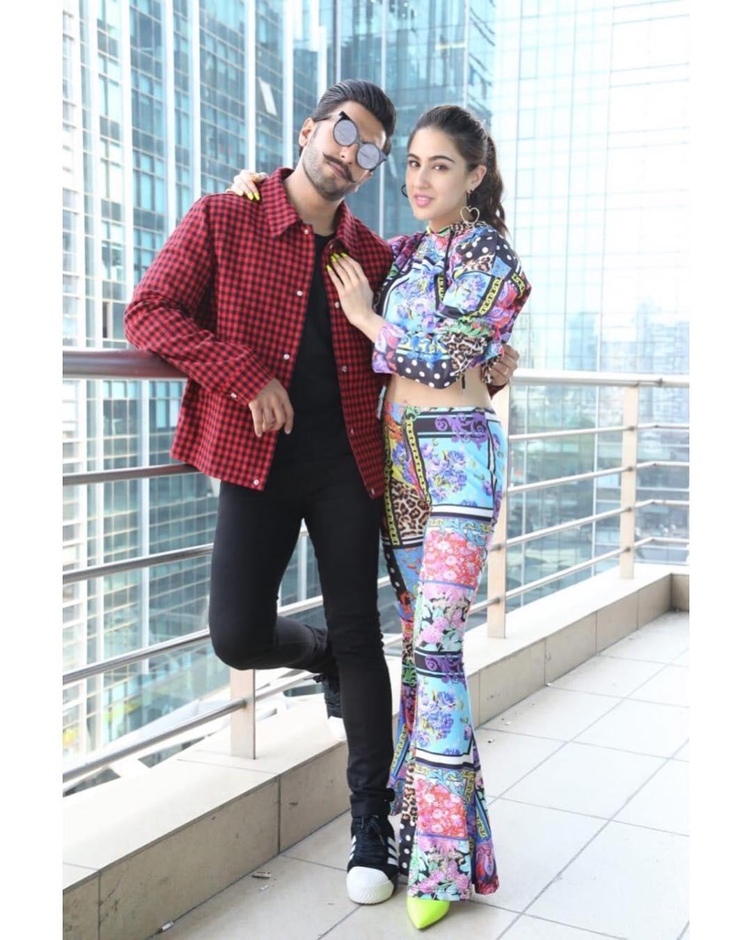 రణ్ వీర్ సింగ్తో సారా అలీ ఖాన్ Photo: Instagram.com/saraalikhan95