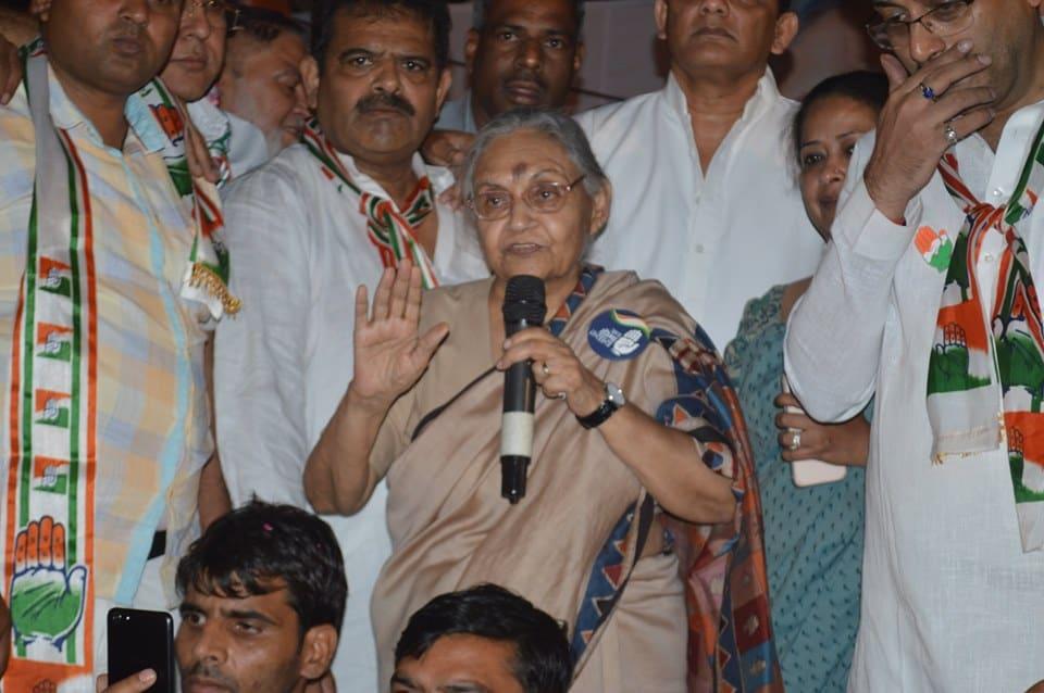 ప్రస్తుతం ఢిల్లీ కాంగ్రెస్ అధ్యక్షురాలిగా ఉన్న షీలా దీక్షిత్