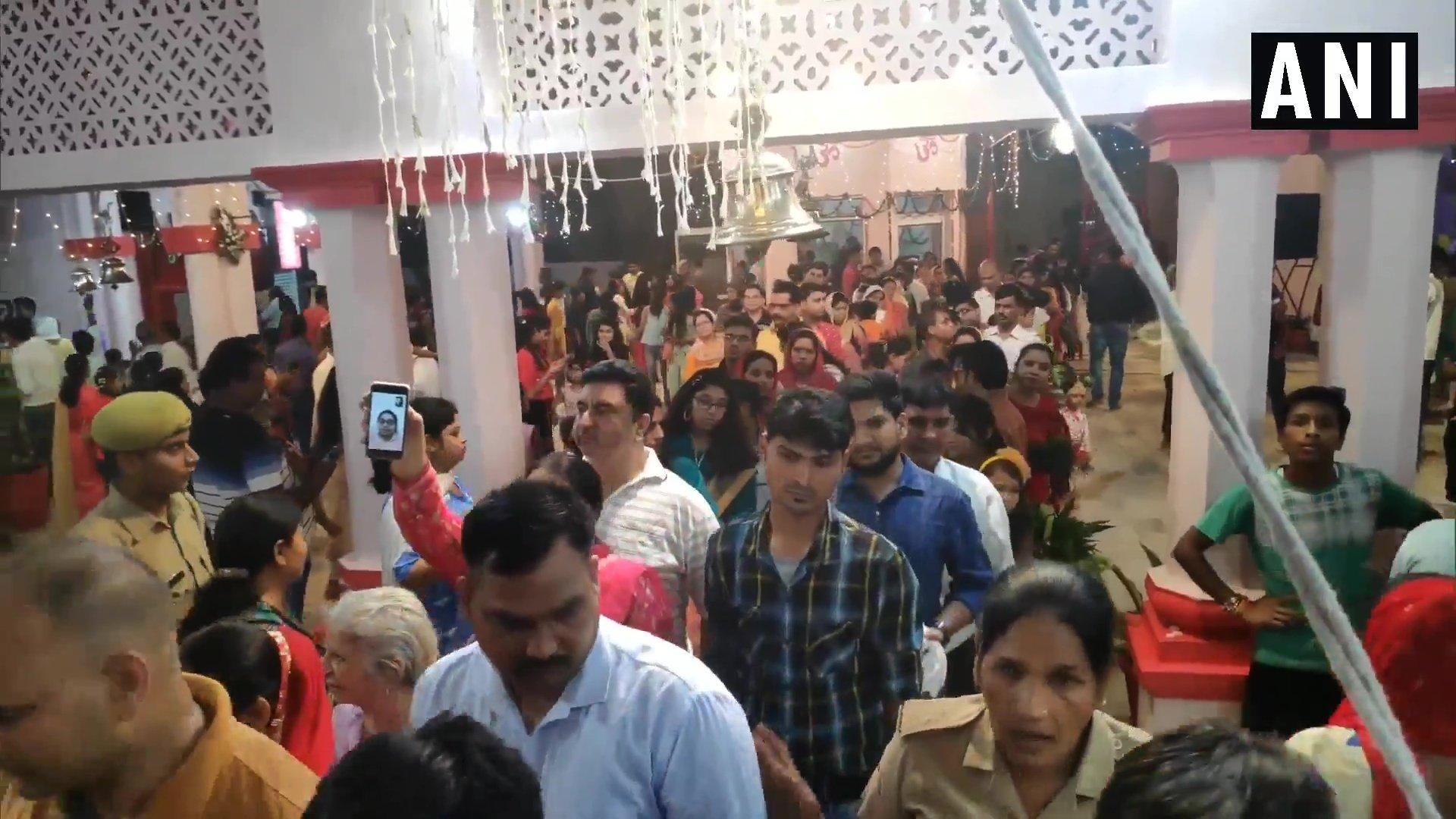 మొరాదాబాద్ రాధాకృష్ణ ఆలయంలో కృష్ణాష్టమి వేడుకలు (image : Twitter - ANI)