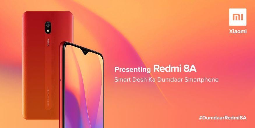 2. రెడ్మీ 7ఏ అప్గ్రేడ్ వర్షన్గా రెడ్మీ 8ఏ వచ్చేసింది. రెడ్మీ 7ఏ మోడల్కు సరికొత్త మార్పులు చేసి రెడ్మీ 8ఏ మోడల్ను ఆవిష్కరించింది షావోమీ. (image: Xiaomi India)