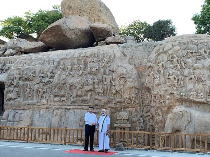 మహాబలిపురంలో ప్రధాని మోదీ, చైనా అధ్యక్షుడు జిన్పింగ్
