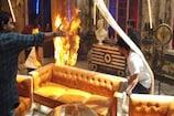 Video : రొమాంటిక్ సినిమా సెట్లో అగ్ని ప్రమాదం... ఇదీ కారణం...