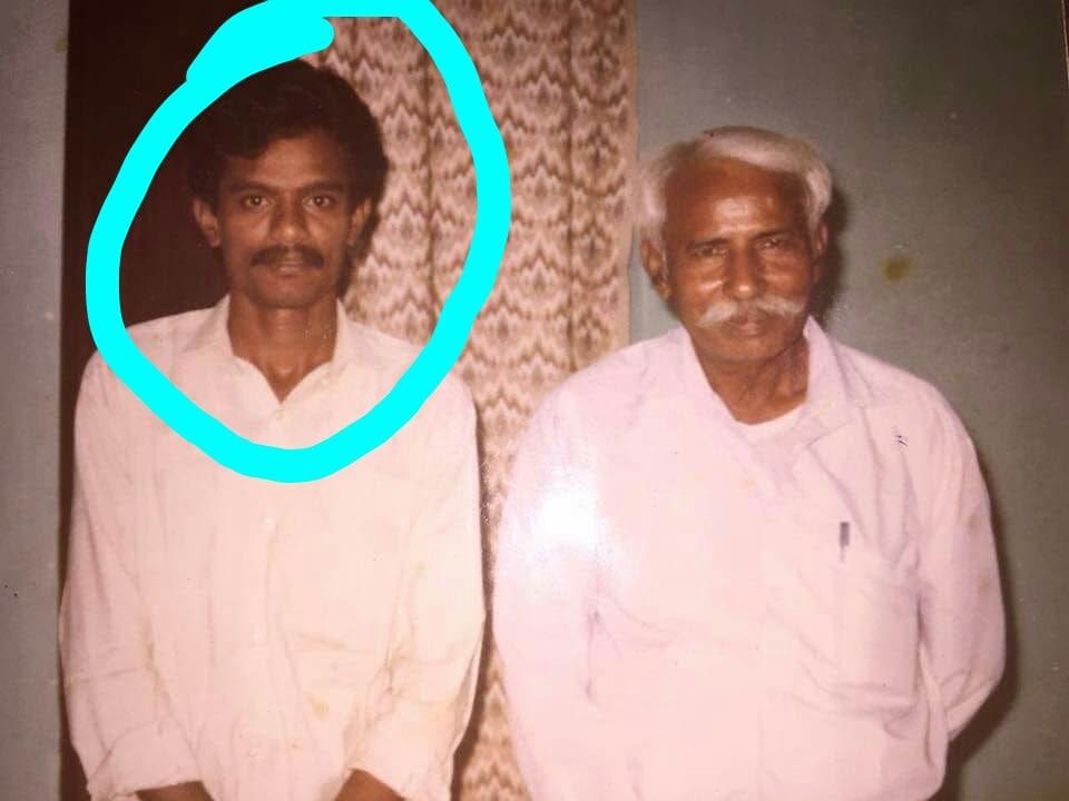 వైఎస్ జగన్ తాత రాజారెడ్డితో నారాయణ(ఫైల్ ఫోటో)