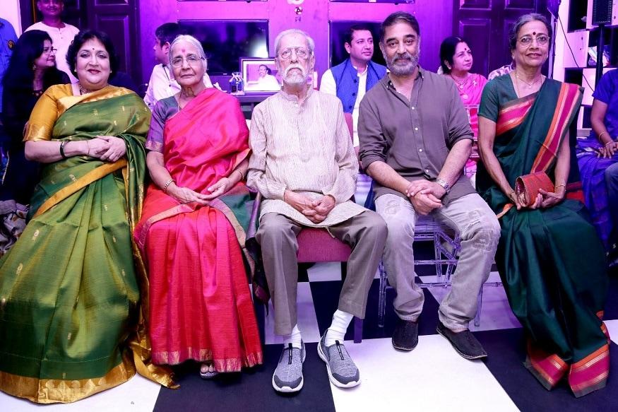చారు హాసన్ పుట్టినరోజు వేడుకలకు హాజరైన రజినీకాంత్ భార్య లతా (Twitter/Photo)