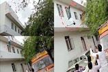 Video: టీడీపీ నేత ఆత్మహత్యాయత్నం... పోలీస్ స్టేషన్పై నుంచి దూకి...