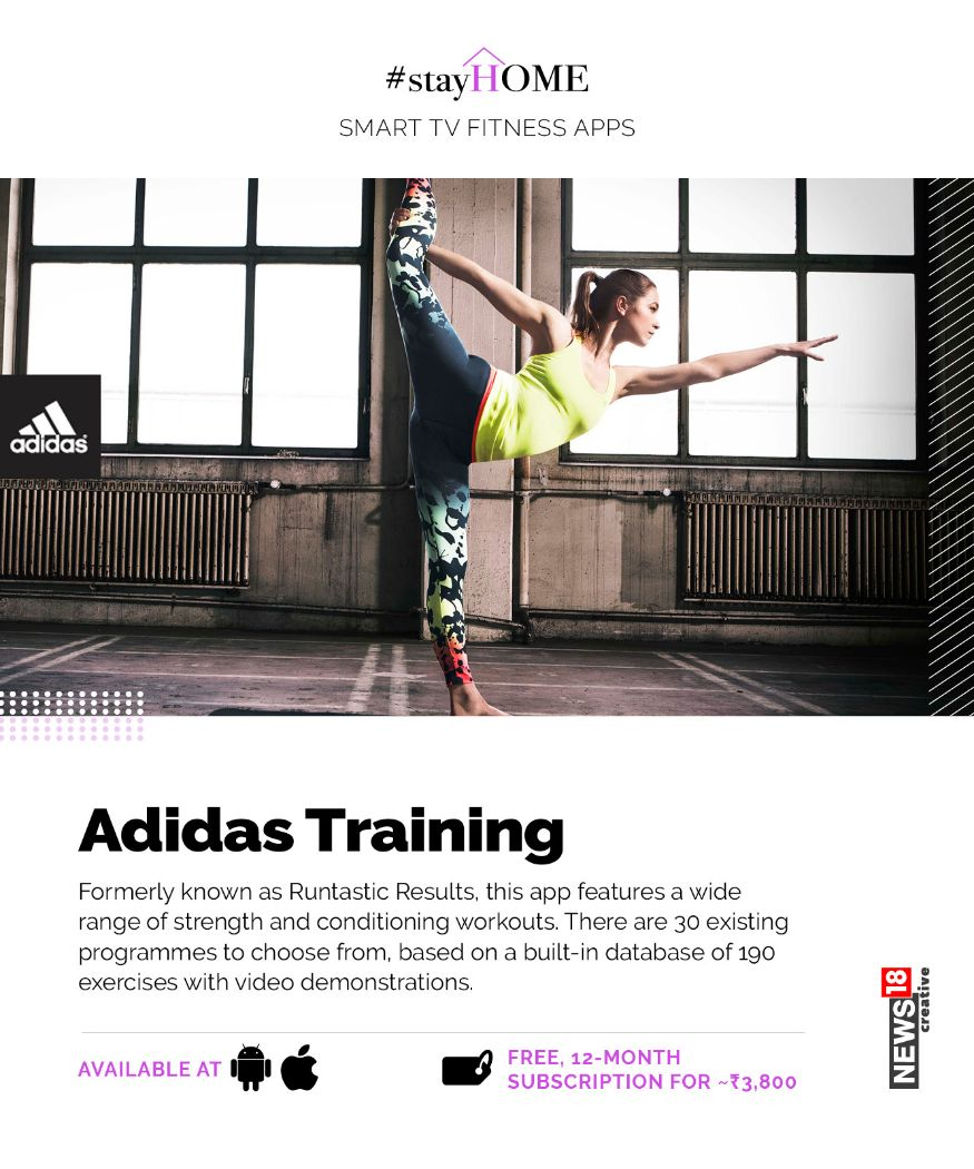 3. Adidas Training: గతంలో రన్టాస్టిక్ రిజల్ట్స్ పేరుతో ఈ యాప్ అందరికీ పరిచయమే. తర్వాత అడిడాస్ ట్రైనింగ్గా అందుబాటులో ఉంది. ఇది ఫ్రీ యాప్. యాన్యువల్ సబ్స్క్రిప్షన్ రూ.3,800.(Image: Network18 Graphics)