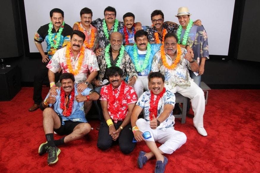 1980ల నాటి హీరోలతో మోహన్లాల్, చిత్రంలో రజినీకాంత్, బాలకృష్ణ,అంబరీష్, వెంకటేష్ తదితరులు (Twitter/Photo)